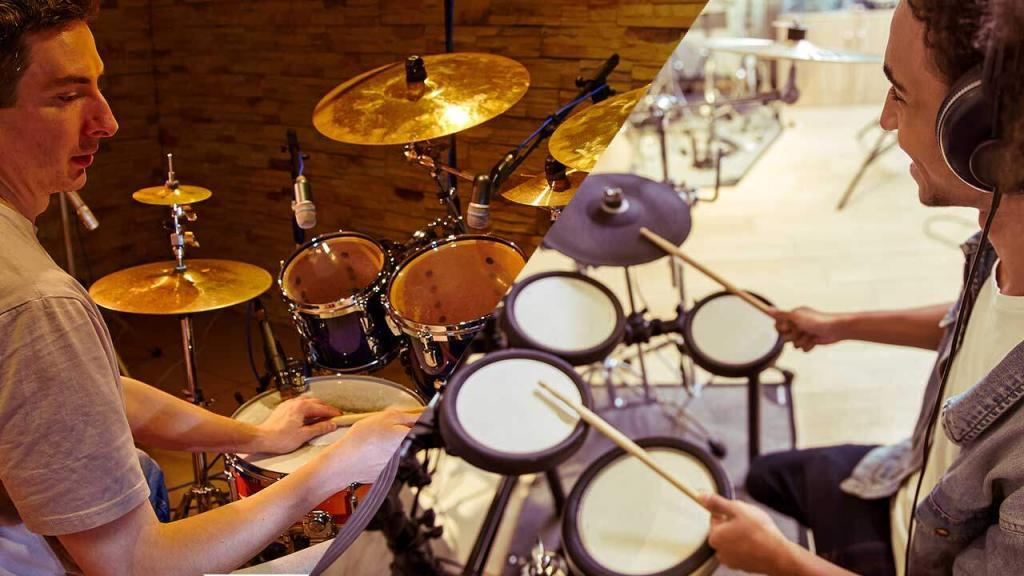 electronic drum set vs acoustic new percussionist. Black Bedroom Furniture Sets. Home Design Ideas